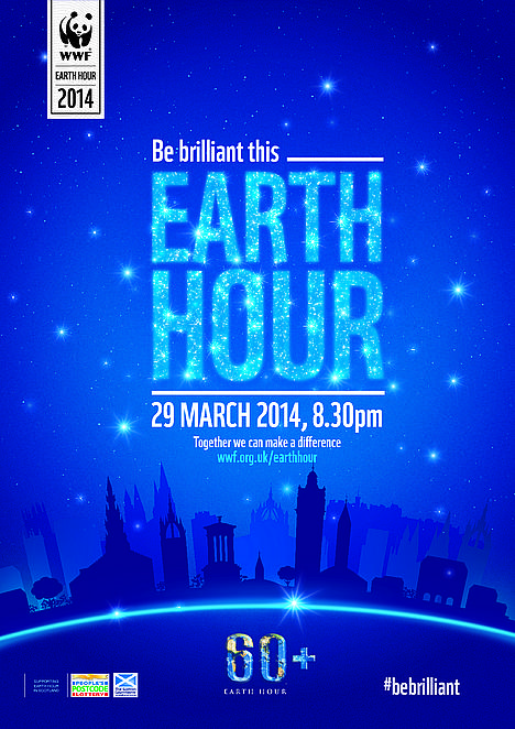 Earth Hour 2014 Scottish poster