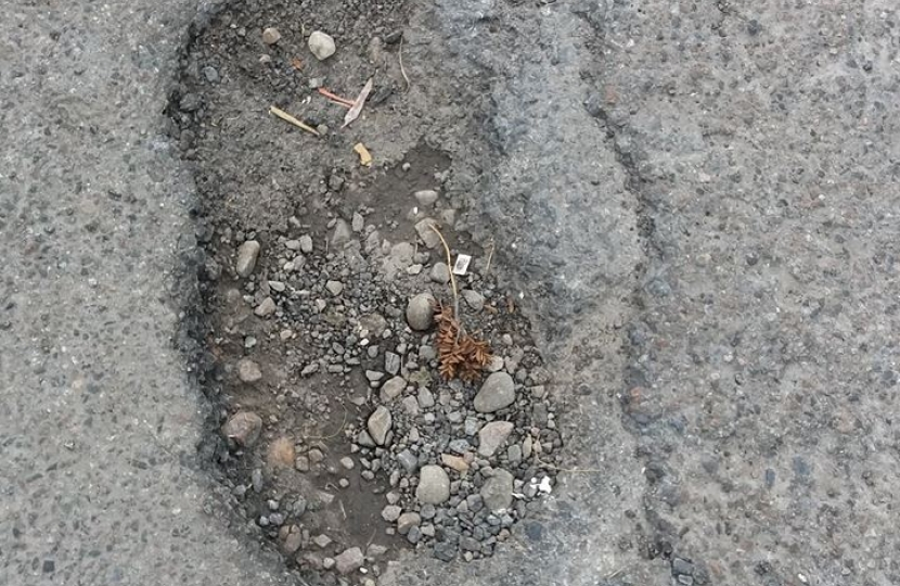 Pavement in need of repair