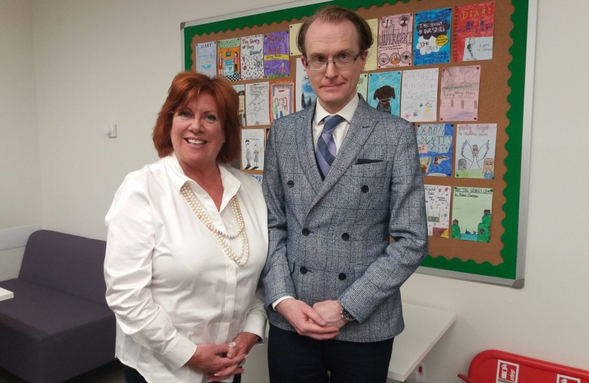 Cllr Yvonne McNeilly and Cllr Andrew Vennard