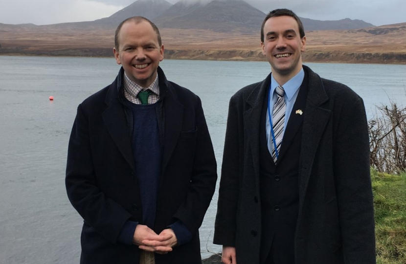 Donald Cameron MSP with Cllr Alastair Redman