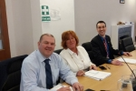 Cllrs Bobby Good, Yvonne McNeilly and Alastair Redman