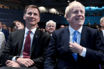 Jeremy Hunt with new prime minister Boris Johnson