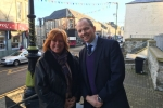 Donald Cameron MSP with Cllr Yvonne McNeilly
