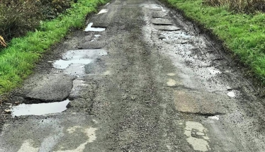 Poor road surface